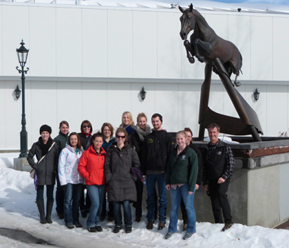 Spruce Meadows' famous tribute to Olympic gold medallist Hickstead was a must-see for WCVM students.